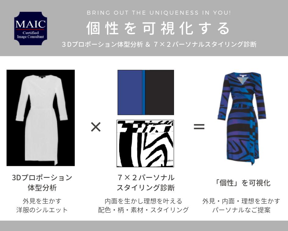 イメージコンサルティングファッションスタイリングバナーグレー