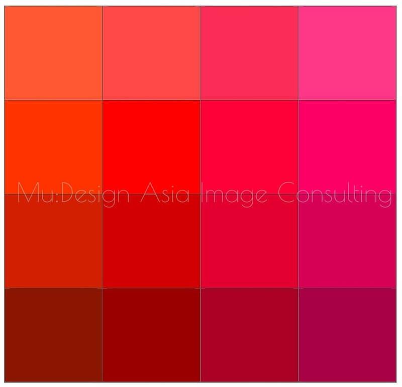 パーソナルカラー16分類赤